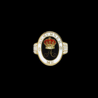The mourning ring the Prince Regent commissioned on the death of his sister, Princess Amelia