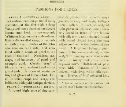Ackermann's July 1812 fashion plate description