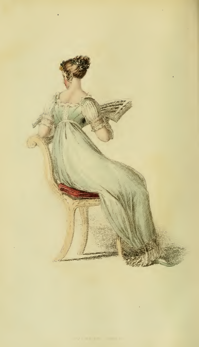 Ackermann's Fashion Plate 27, October 1813: Evening Dress