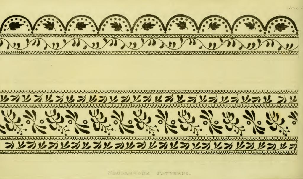 Ackermann's February 1814 Pattern of Needlework design
