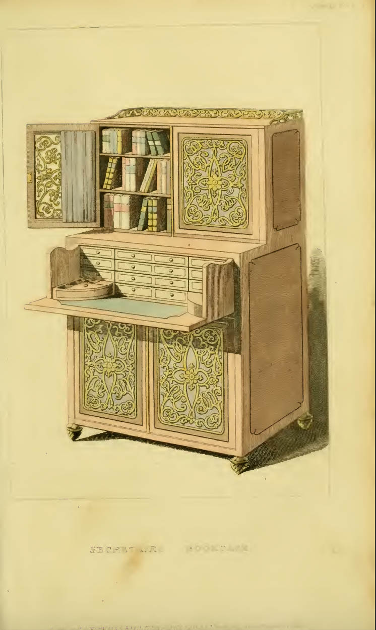 Ackermanns March 1814 plate 13, Lady's Book-Case
