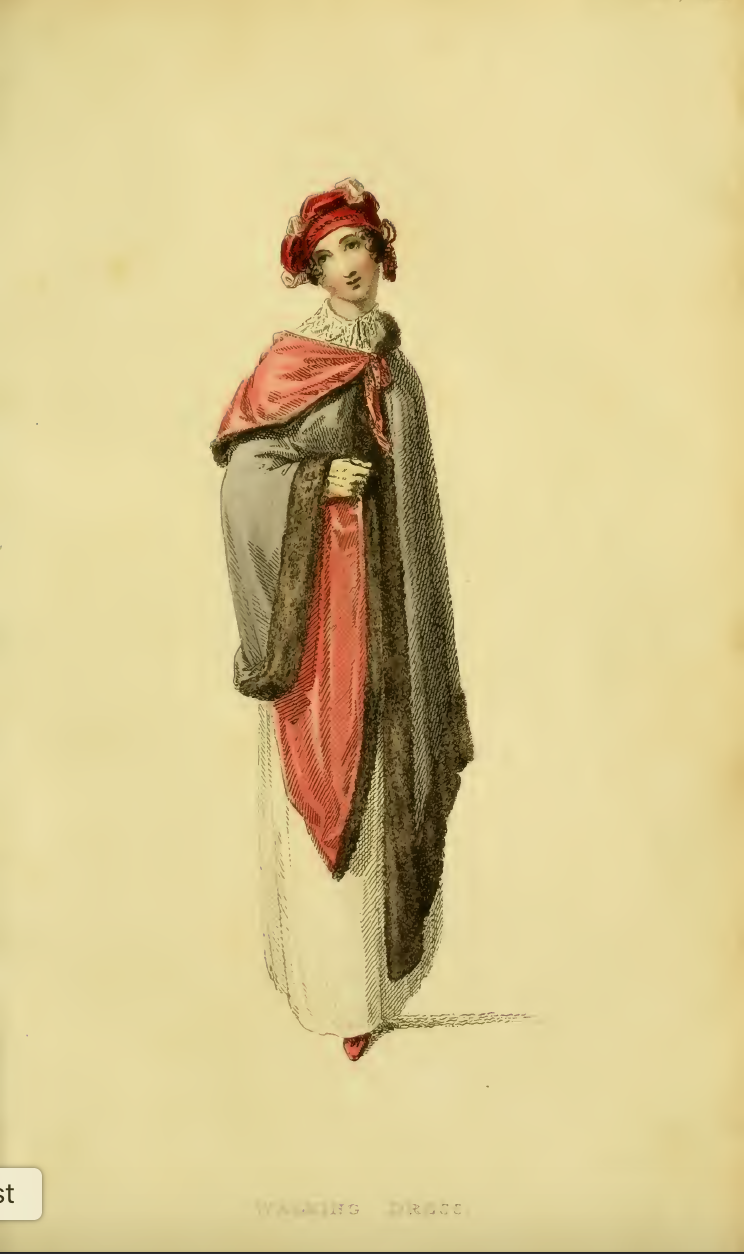 Ackermanns Fashion Plate 17 March 1814: Promenade or carriage costume