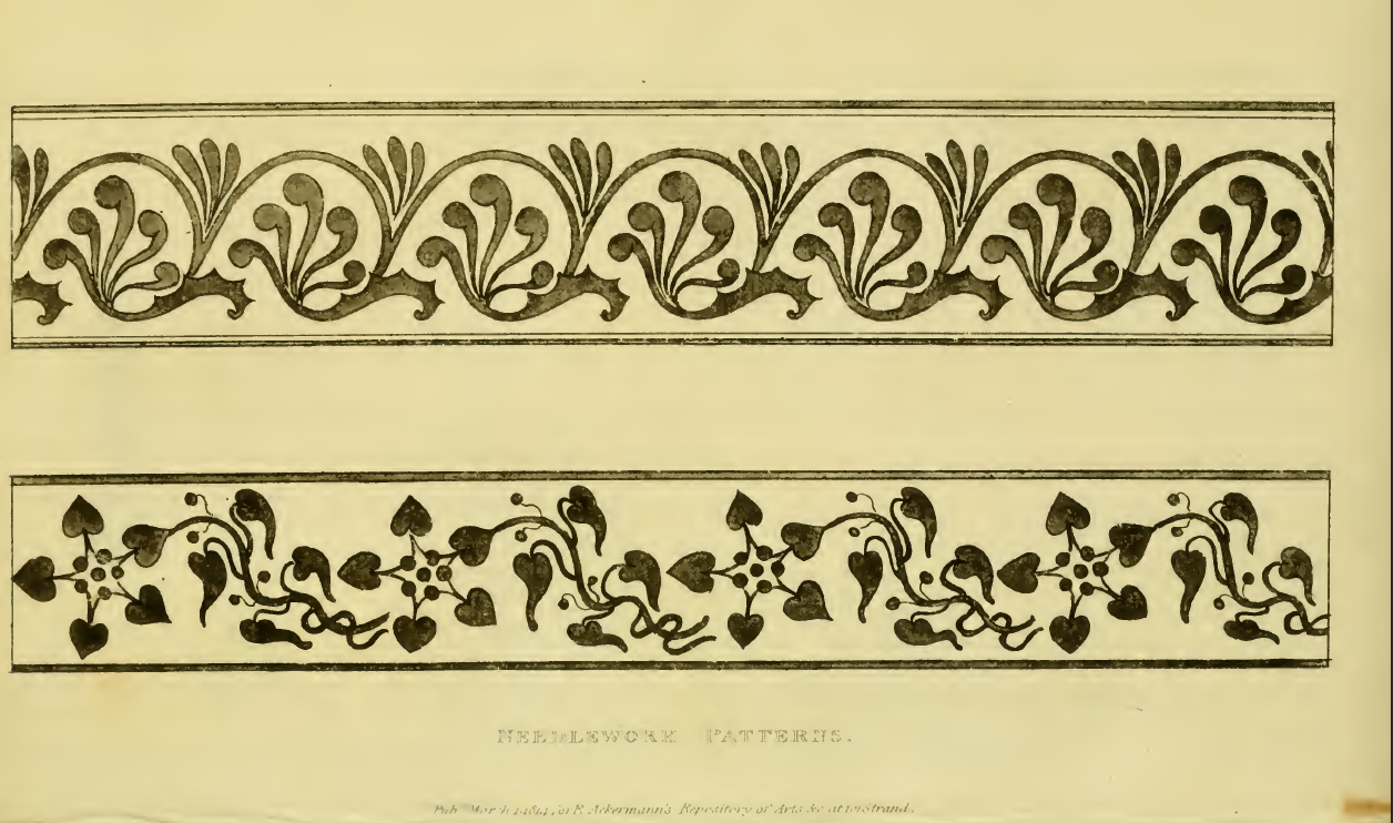 Ackermanns March 1814 Embroidery patterns