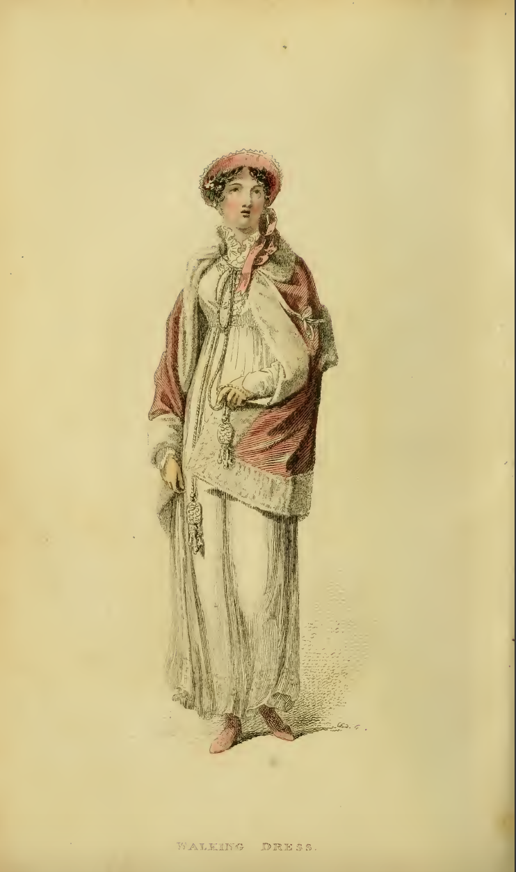 Ackermanns Fashion Plate 24 April 1814: Promenade Dress