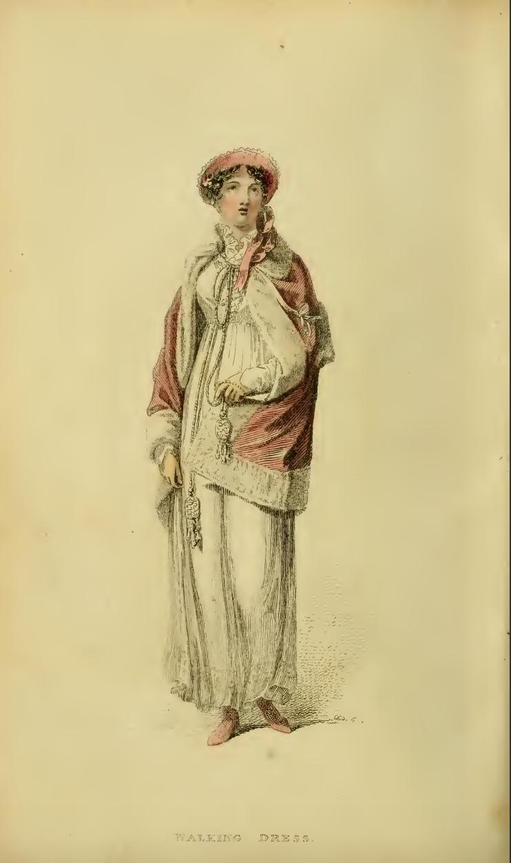 Ackermanns Fashion Plate 24 April 1814: Promenade Dress