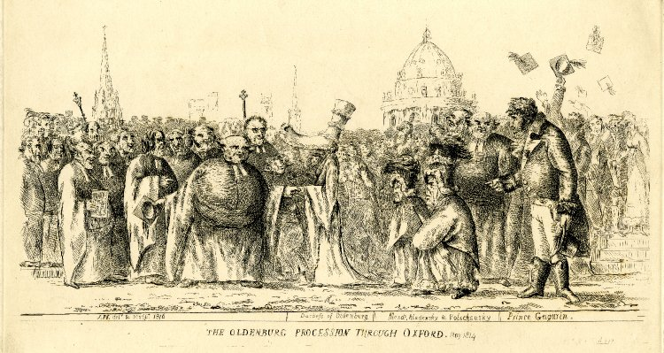 The Oldenburg Procession through Oxford, May 1814
