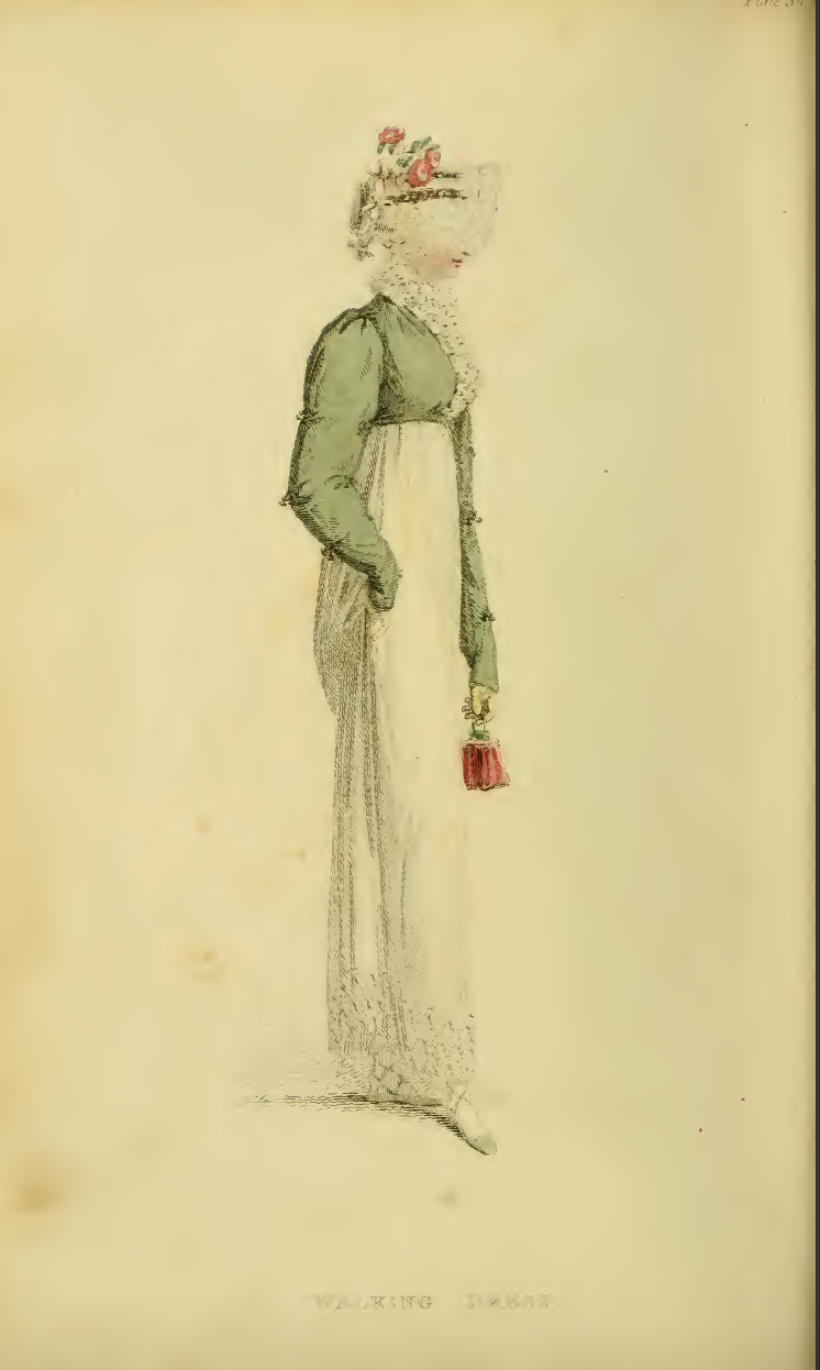 Ackermann's June 1814 Plate 36: Walking Dress
