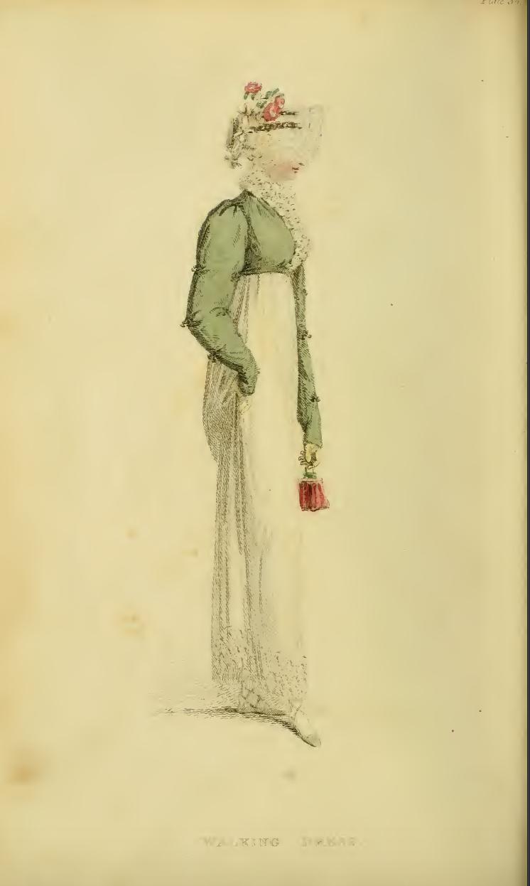 Ackermann's June 1814 Plate 36: Walking Dress