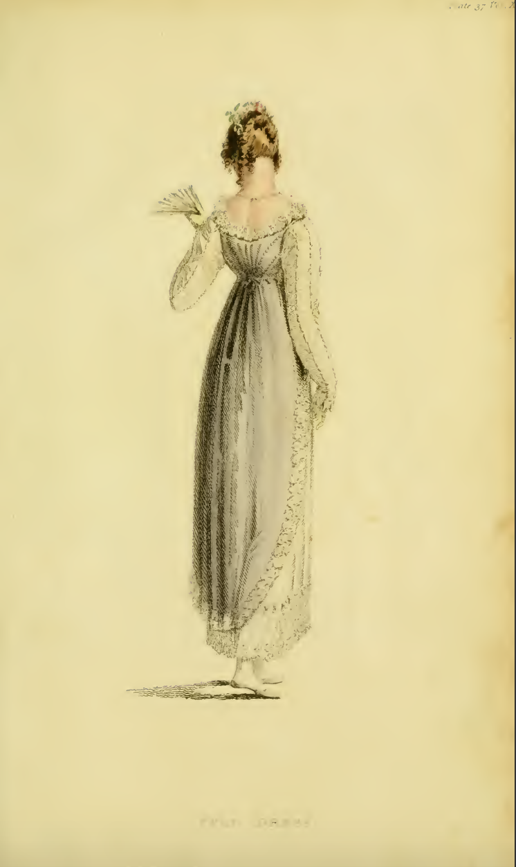 "Ackermann's June 1814, plate 37: ""Full Dress"""
