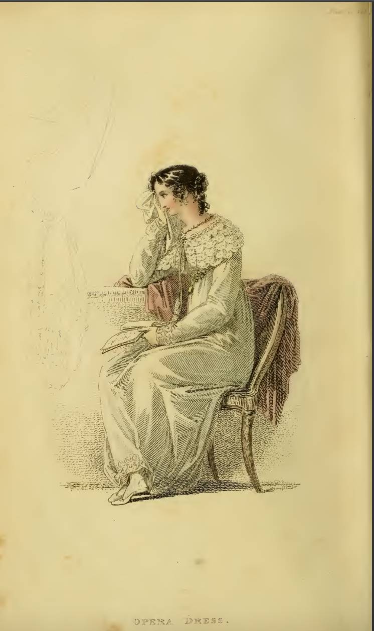 Ackermanns May 1814, Plate 30: Opera Dress