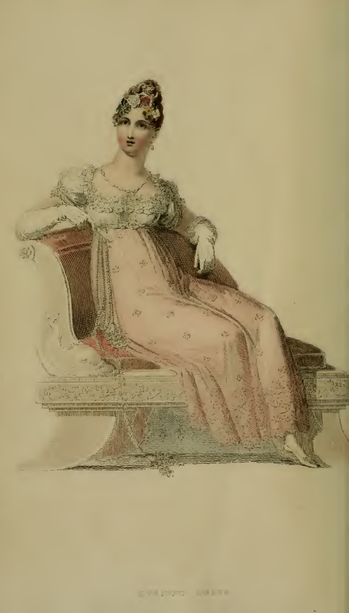 Evening Dress, Ackermann's July 1814