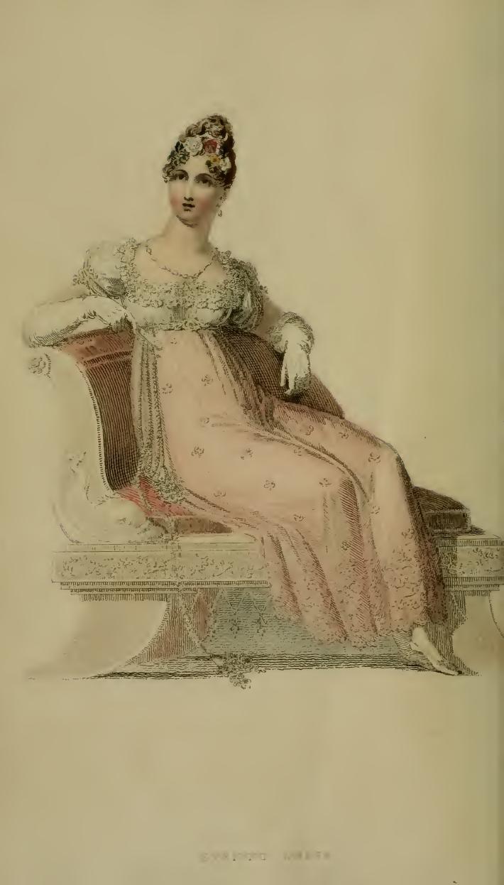 Evening Dress, Ackermann's July 1814