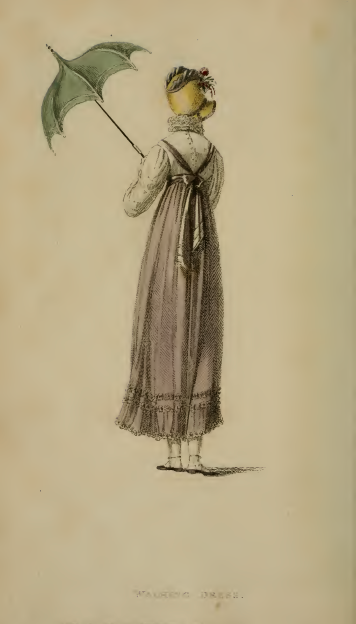 Walking Dress, Ackermann's August 1814