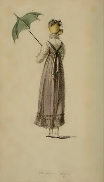 Walking Dress, Ackermann's August 1814