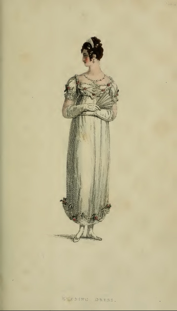 Evening Dress, Ackermann's August 1814