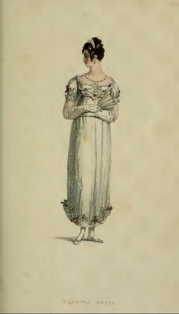Evening Dress, Ackermann's August 1814