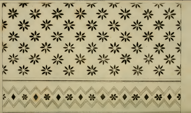Needlework pattern, Ackermann's August 1814