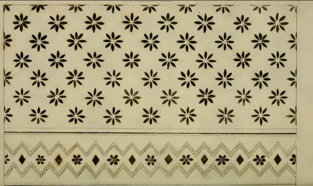 Needlework pattern, Ackermann's August 1814