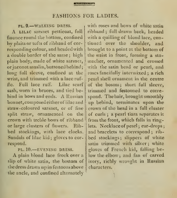 Description of Ackermann's fashion plates, August 1814