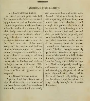 Description of Ackermann's fashion plates, August 1814