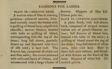 Text for Ackermann's Fashion plates, September 1814