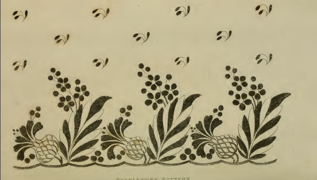 Needle-work pattern, Ackermann's September 1814