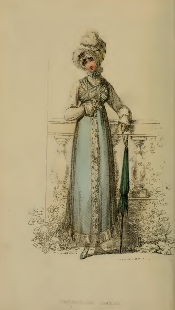 Promenade Dress, Ackermanns October 1814