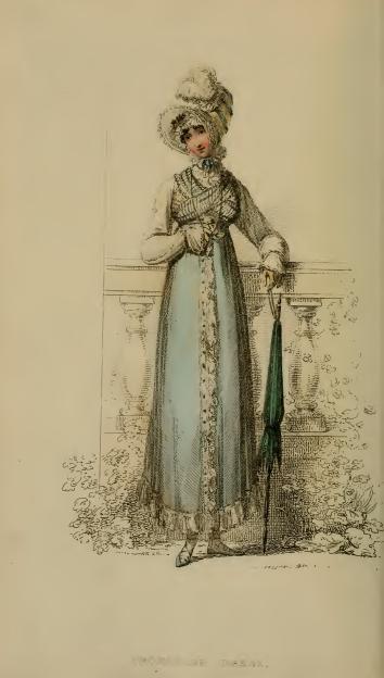 Promenade Dress, Ackermanns October 1814