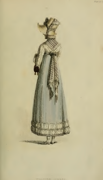 Walking Dress, Ackermann's October 1814