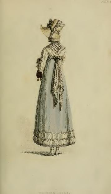 Walking Dress, Ackermann's October 1814