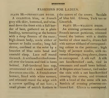 Text to accompany fashion plates, Ackermanns October 1814