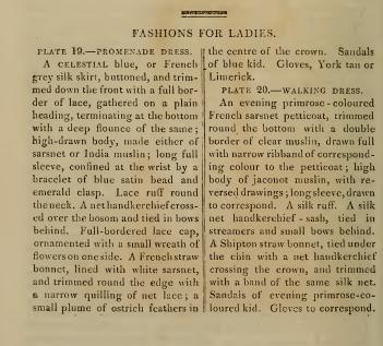 Text to accompany fashion plates, Ackermanns October 1814