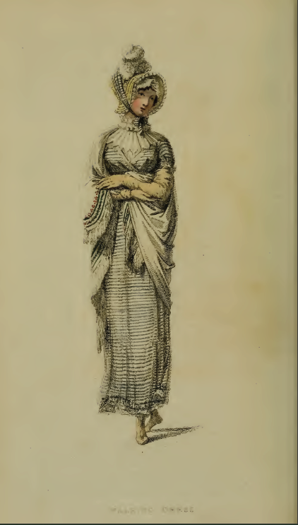 """Walking Dress""  Ackermann's Fashion Plate 24, November 1814"