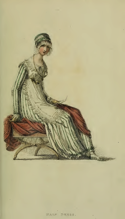 "Plate 26, Ackermann's November 1814: ""Half-Dress"""