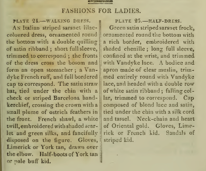 Text description of Ackermann's fashion plates for November 1814