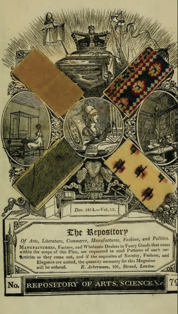 Ackermann's December 1814 fabric samples