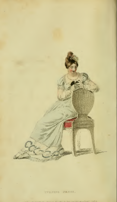 Ackermann's Fashion Plate January 1815, plate 3: full dress