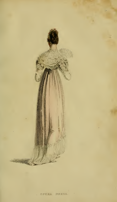Ackermann's fashion plates January 1815, plate 4: Evening Dress/Opera Dress