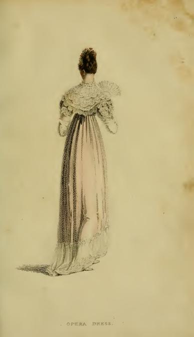 Ackermann's fashion plates January 1815, plate 4: Evening Dress/Opera Dress