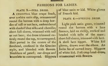 Ackermann's fashion plates January 1815: text