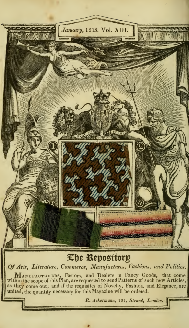 Ackermann's fabric samples, January 1815