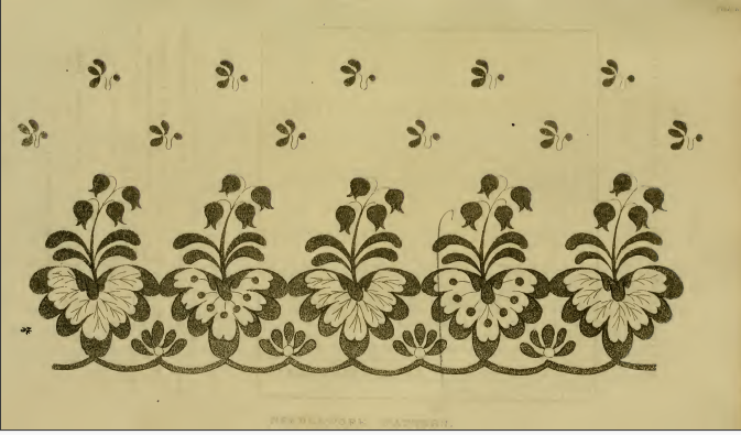 Ackermann's Repository, Pattern of Needle-work, February 1815