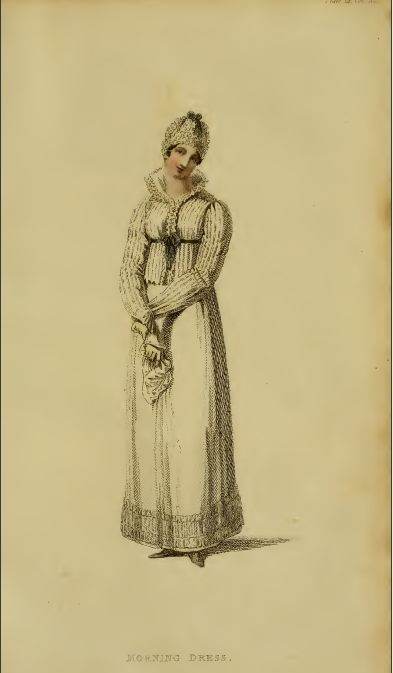Ackermann's Fashion Plates March 1815, plate 14: Morning Dress