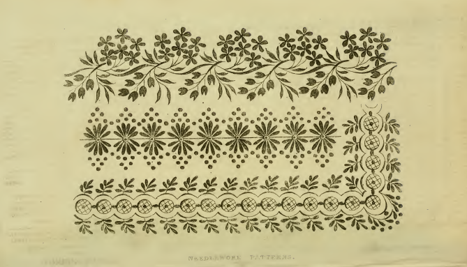 Ackermann's Repository March 1815, needlework patterns