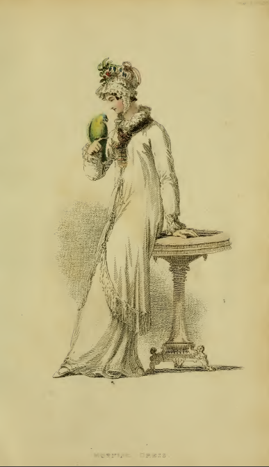 Ackermann's Fashion Plates April 1816, plate 18: Evening dress
