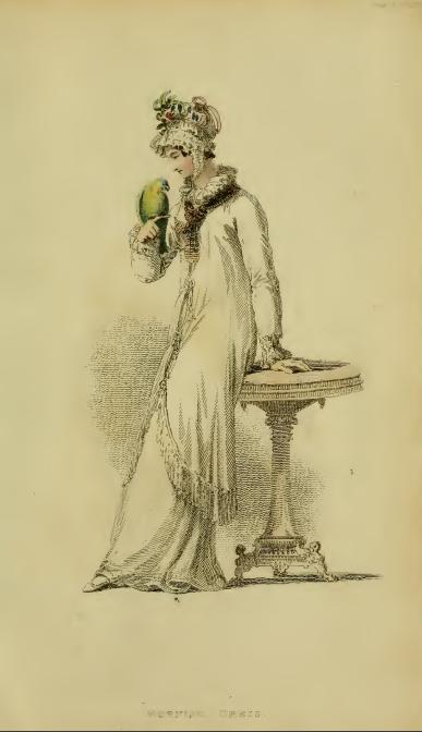 Ackermann's Repository fashion plate April 1816, plate 19: Morning Dress