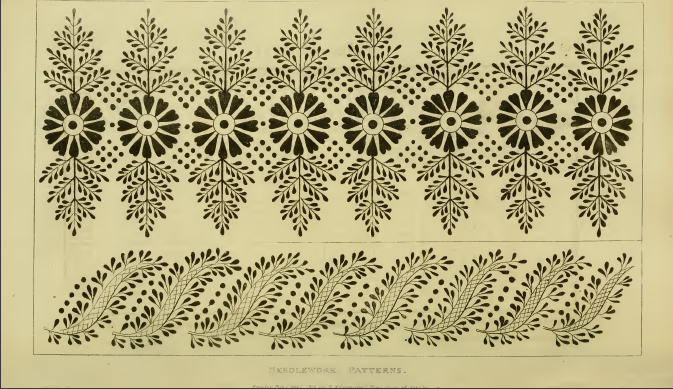 Ackermann's Repository Needle-work patterns April 1815