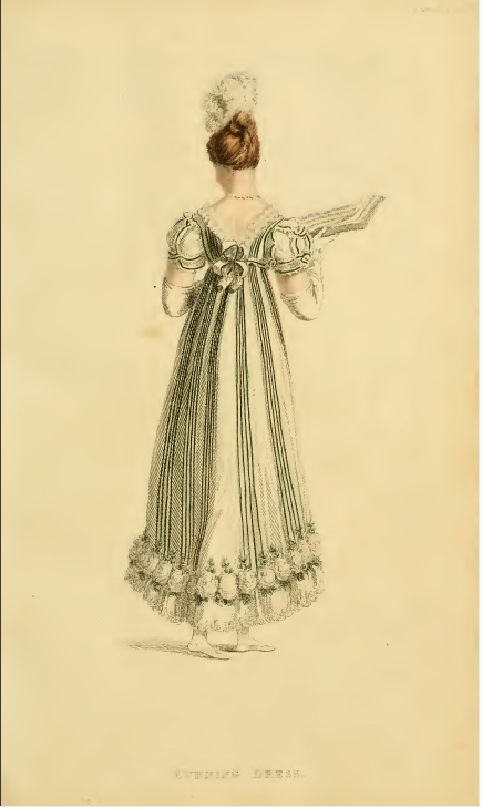 Ackermanns Fashion Plates July 1815, plate 5: Evening Dress