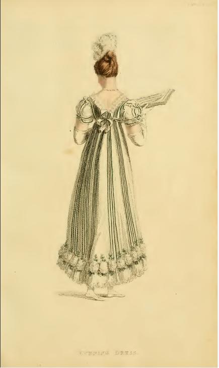 Ackermanns Fashion Plates July 1815, plate 5: Evening Dress