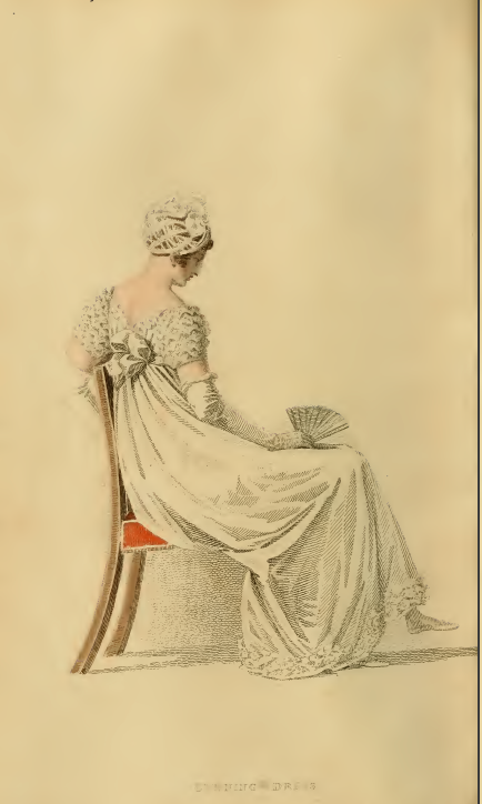 Ackermanns fashion plates August 1815: Evening Dress